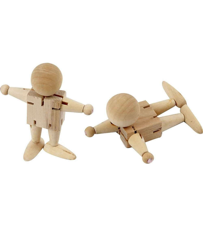Omulet din lemn, nefinisat, cu elastic - Crafturi