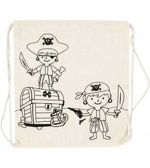 Rucsac panza pentru colorat - model Pirati - Desen și pictură
