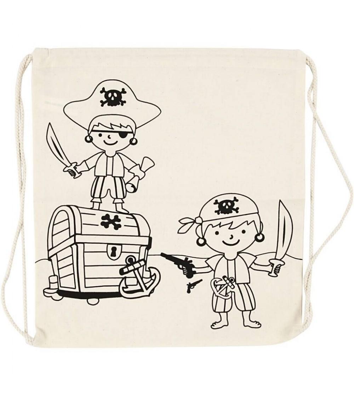 Rucsac panza pentru colorat - model Pirati - Crafturi
