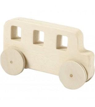 Set 2 masinute din placaj de lemn - Crafturi