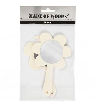 Set 2 oglinzi de mana din placaj de lemn - Crafturi