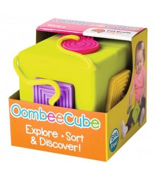 Jucarie de potrivire a formelor Fat Brain Toys Oombee Cube - Jucării bebeluși