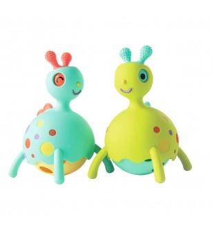 Jucarie educativa pentru bebelusi Fat Brain Toys Rollobie Blue - Jucării bebeluși