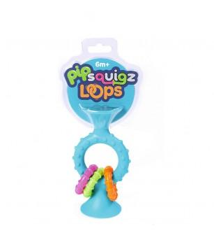 Jucarie bebelusi Fat Brain Toys pipSquigz Loops Turcoaz - Jucării bebeluși