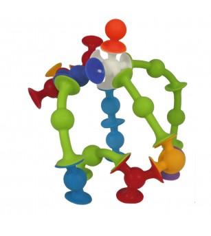 Joc de constructie Fat Brain Toys Squigz Starter 24 piese - Jocuri construcție