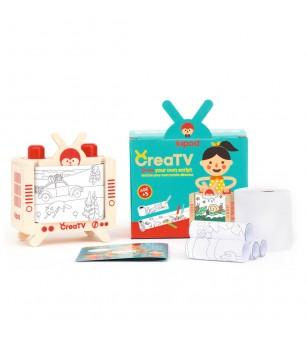Joc din lemn Televizor CreaTV, Kipod Toys - Jucării de lemn si Montessori
