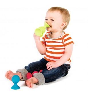 Jucarie senzoariala bebelusi Fat Brain Toys Pip Squigz - Jucării bebeluși