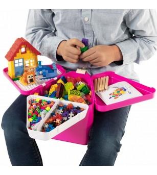 Cutie de jucarii pentru calatorii Teebee - Roz - Organizare