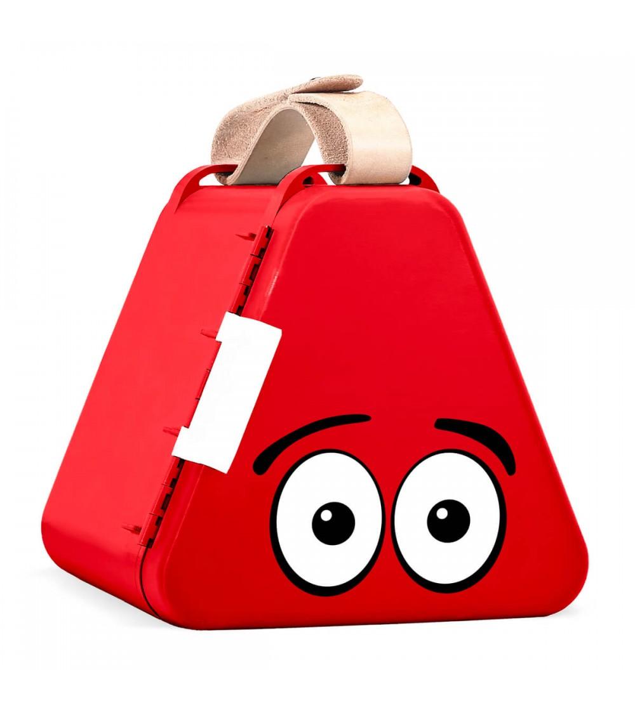 Cutie de jucarii pentru calatorii Teebee - Rosu - Organizare