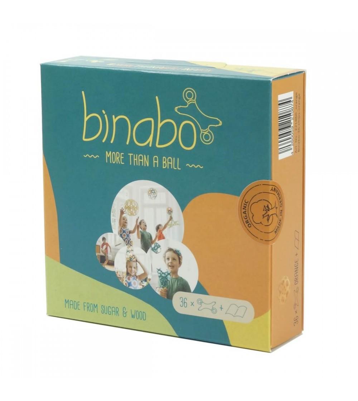 Joc constructie Binabo Portocaliu - 36 piese