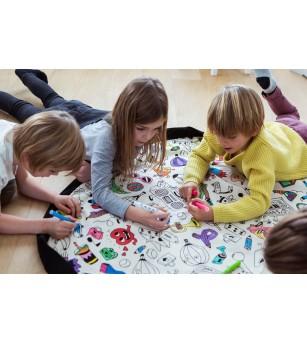 Sac 2 in 1 pentru joaca Play&Go Coloreaza-ma - Organizare