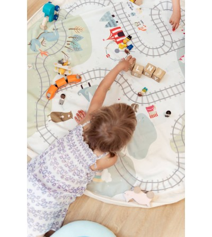 Sac 2 in 1 pentru joaca Play&Go Trainmap - Organizare
