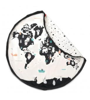 Sac 2 in 1 pentru joaca Play&Go Worldmap - Organizare