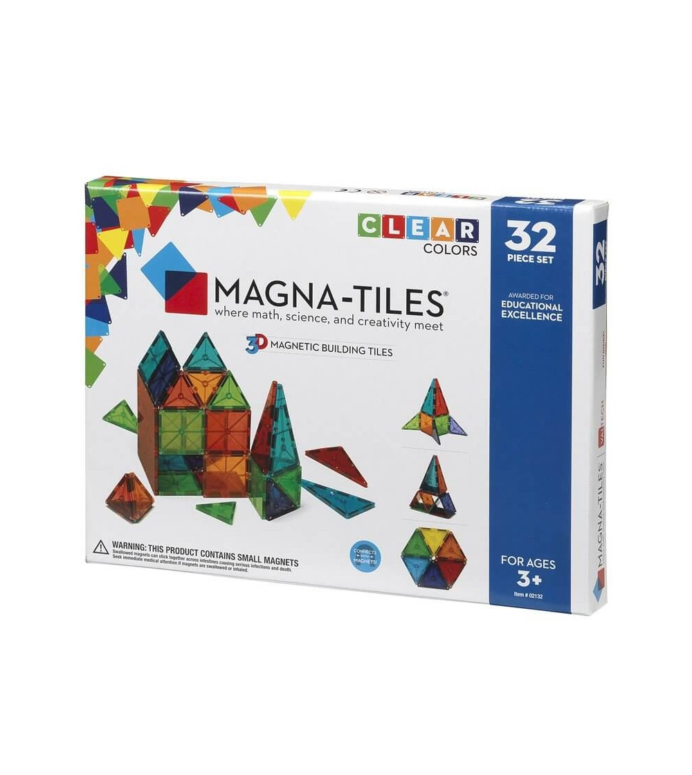 Set magnetic Magna-Tiles Clear Colors - 32 piese