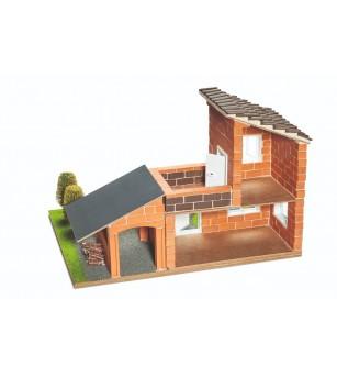 Kit de constructie Teifoc - Vila cu garaj - Jocuri construcție
