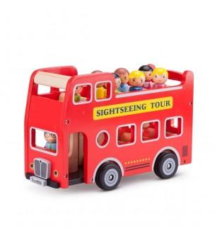 Autobuz turistic cu 9 figurine - Vehicule de jucărie